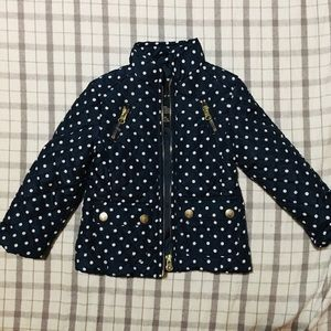 Me Jane Polka Dot Quilted Puffer Jacket